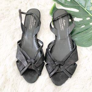 Donald J. Pilner | Bomar Leather Black Sandals 10